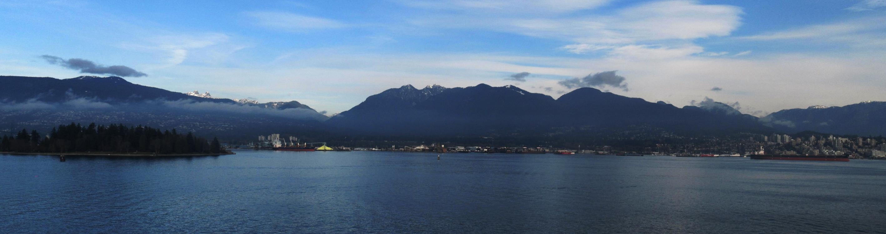 Die North Shore Mountains bei Vancouver.